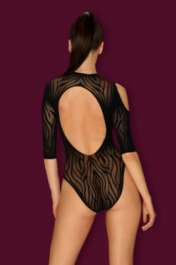 בגד גוף רשת סקסי שרוול ארוך B130